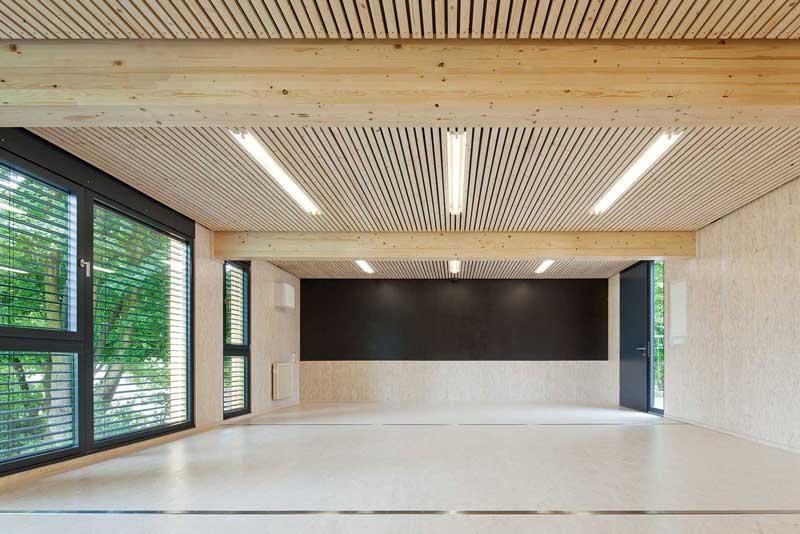 Holzsystembau Innenraum